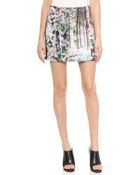 Tibi Enchanted Forest Miniskirt  Black Multi - Lyst