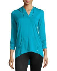 Nux - High-low Hoodie Sweater - Lyst