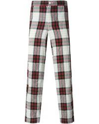 Comme des Garçons Checked Trousers - Lyst