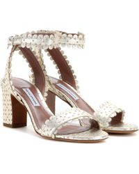Tabitha Simmons Leticia Metallic Leather Sandals - Lyst