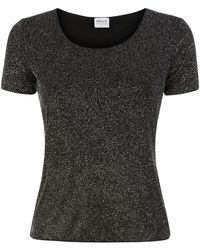 Armani Short Sleeve All-Over Sparkle Top - Lyst