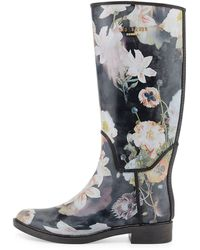Ted Baker Karriner Opulent Bloom Print Rubber Boot - Lyst