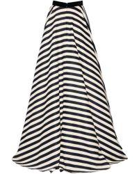 Daniele Carlotta - Stripe Printed Viscose Skirt - Lyst