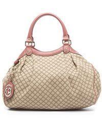 Gucci Preowned Canvas Diamante Medium Sukey Tote Bag - Lyst
