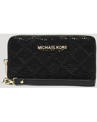 MICHAEL Michael Kors Wristlet - Multi-Function Iphone 5/5S Quilted Patent Python-Embossed - Lyst