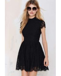 Nasty Gal Keepsake Eclipse Lace Dress - Black - Lyst