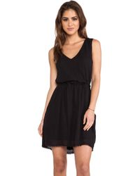 Velvet By Graham & Spencer Teagan Sheer Jersey Dress - Lyst