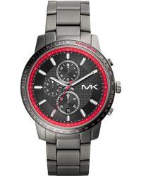 Michael Kors Mens Chronograph Granger Gunmetaltone Stainless Steel Bracelet Watch 45mm - Lyst