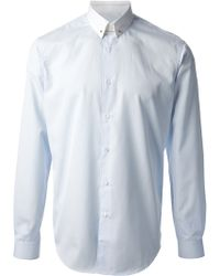 Mr Start - Contrast White Pin Shirt - Lyst