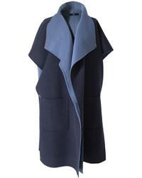 Tibi Double Faced Wool Coat - Lyst