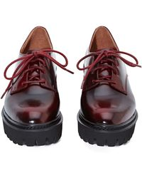Nasty Gal Jeffrey Campbell Pistol Leather Oxford  Wine - Lyst