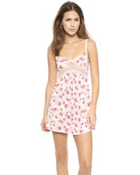 Ella Moss Audrey Chemise  Natural Bloom - Lyst
