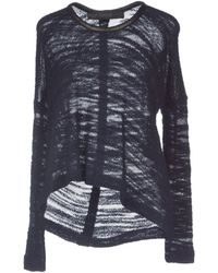 Yigal Azrouel Wide-Neck Wool-Blend Jumper - Lyst