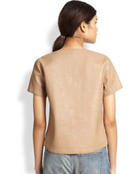 BCBGMAXAZRIA Beata Faux Leather Tee - Lyst
