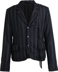 Ann Demeulemeester Reversible Padded Stripped Jacket - Lyst