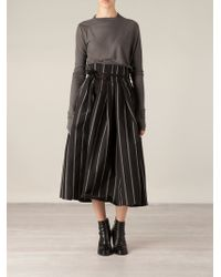 Uma Wang Striped Full Skirt - Lyst