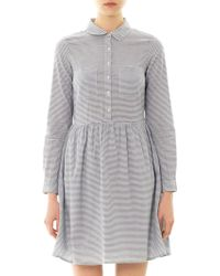 Chinti And Parker Striped Cotton Dress - Lyst