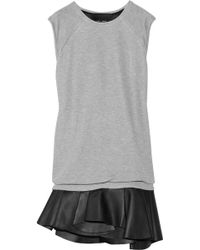 Jay Ahr Jersey and Leather Dress - Lyst