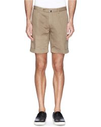 Incotex Cotton-Linen Chino Shorts - Lyst
