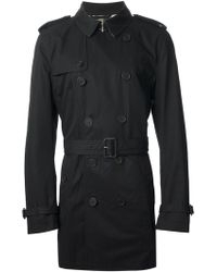 Burberry Brit Black Kensington Trench - Lyst