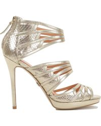 Badgley Mischka Fonda Strappy Leather High Heel - Lyst