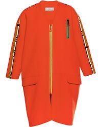 Preen Textured Cotton Mcgregor Coat in Red - Lyst