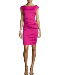 Diane Von Furstenberg Gabi Asymmetric Gathered Slim Dress - Lyst