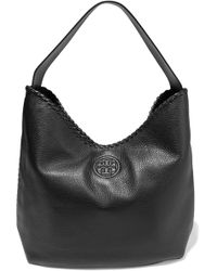 Tory Burch - Marion Whipstitched Textured-leather Tote - Lyst