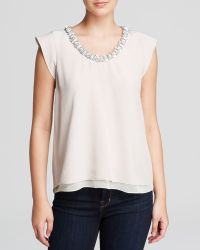 Rebecca Taylor Top - Clustered Crystal - Lyst