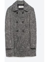 Zara | Wool Herringbone Coat | Lyst