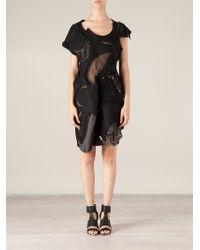 Junya Watanabe Asymmetric Patchwork Dress - Lyst