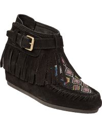 Ash Serpica Wedge Boot Black Suede - Lyst