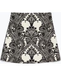 Zara Printed Mini Skirt - Lyst