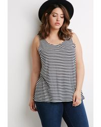 Forever 21 Bow Back Striped Top - Lyst
