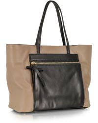 Sonia Rykiel Ambroise Color Block Leather Tote - Lyst