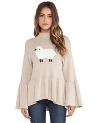 Wildfox Counting Sheep Pullover - Lyst