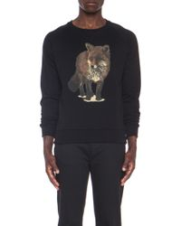 Maison Kitsuné Walking Fox Cotton Sweater - Lyst