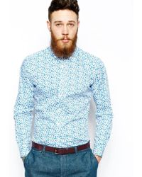 Lambretta - Shirt with Floral Print - Lyst