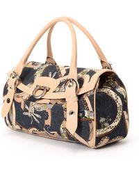 Ferragamo Navy Shoulder Bag - Lyst