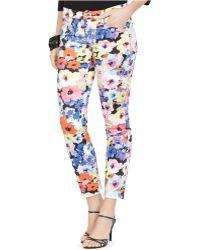 Lauren by Ralph Lauren Floral-Print Skinny Ankle Pants - Lyst