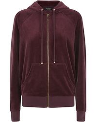 Juicy Couture Mosaic Relaxed Velour Hoodie - Lyst