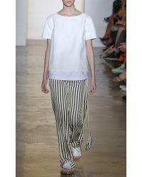 Peter Som Geometric Stripe Trousers - Lyst