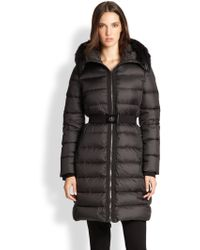 Moncler Fur-Trim Fabre Puffer Jacket - Lyst