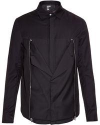 Hood By Air - Zipper-Detail Cropped Shirt Jacket - Lyst