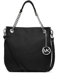 Michael by Michael Kors Jet Set Chain Leather Shoulder Bag - Lyst