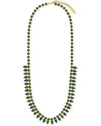 Vince Camuto - Gold-Tone Opal Stone Long Necklace - Lyst