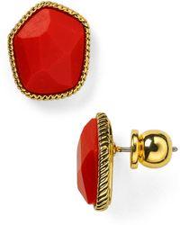Diane von Furstenberg - Evie Button Stud Earrings - Lyst