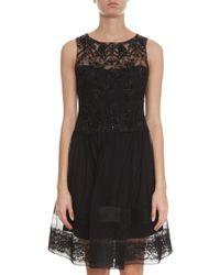 Notte By Marchesa Full Skirt Beaded Dress - Lyst