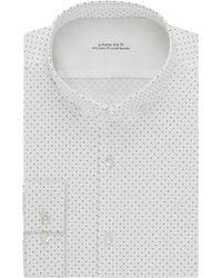 Calvin Klein Dotted Dress Shirt - Lyst