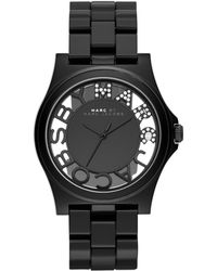 Marc By Marc Jacobs Women'S Henry Black Nylon Bracelet Watch 41Mm Mbm4572 - Lyst